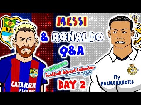 Messi & Ronaldo Q&A! (El Clasico 1-1 2016-DAY 2 Advent Calendar!)