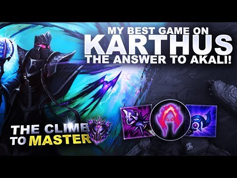 MY BEST GAME ON KARTHUS? THE ANSWER TO AKALI! - Climb to Master | League of Legends