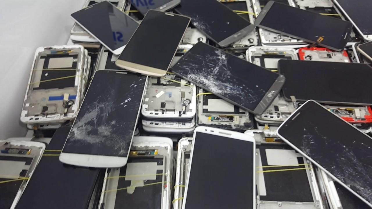 LG Akıllı Cep Telefonu Kırık Ekran Video,su - YouTube