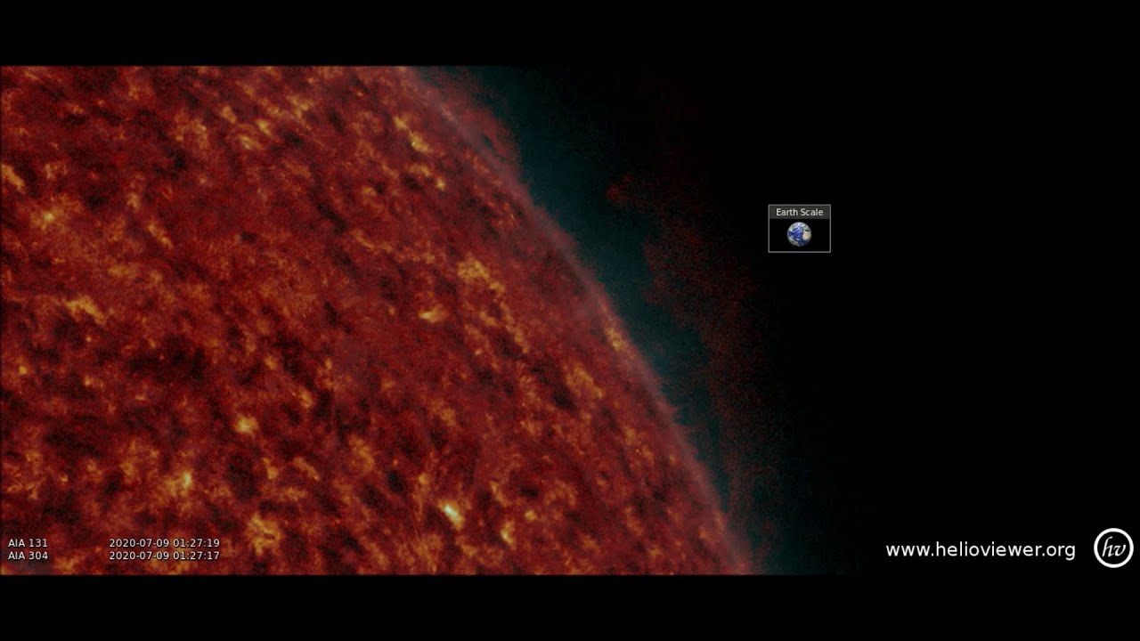 A Huge Filament Erupted from the Sun Producing a Coronal Mass Ejection (CME)