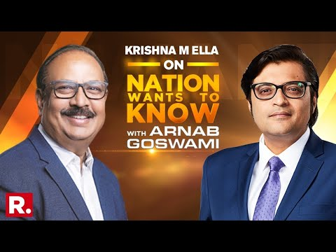 Bharat Biotech MD Dr. Krishna Ella Speaks To Arnab Goswami On Nation Wants To Know