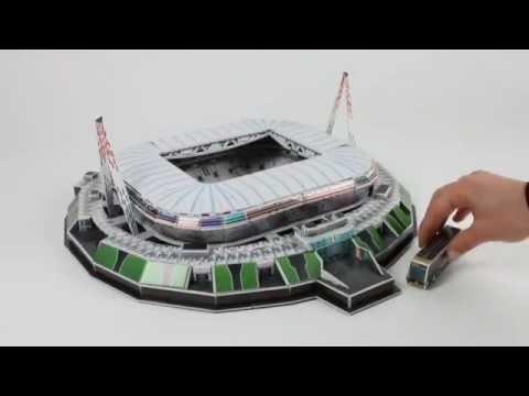 Puzzle 3D Stadion Juventus Turyn Stadium Nanostad Trefl - YouTube f5c8c10fbb6