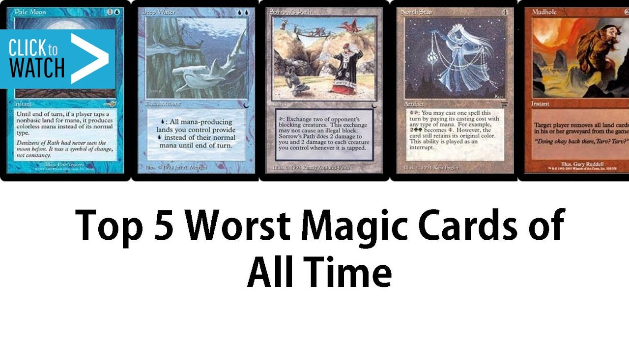 Top 5 Worst Magic The Gathering Cards Of All Time Youtube