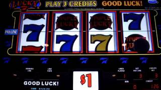 TRIPLE LUCKY 7  slots *LIVE PLAY* Grandpa