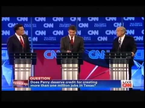 Ron Paul HUMILIATES Rick Perry in front of Tea Party Audience