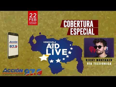 Gaby Calderon - Cobertura Venezuela Aid Live: Ricky Montaner habla en exclusiva