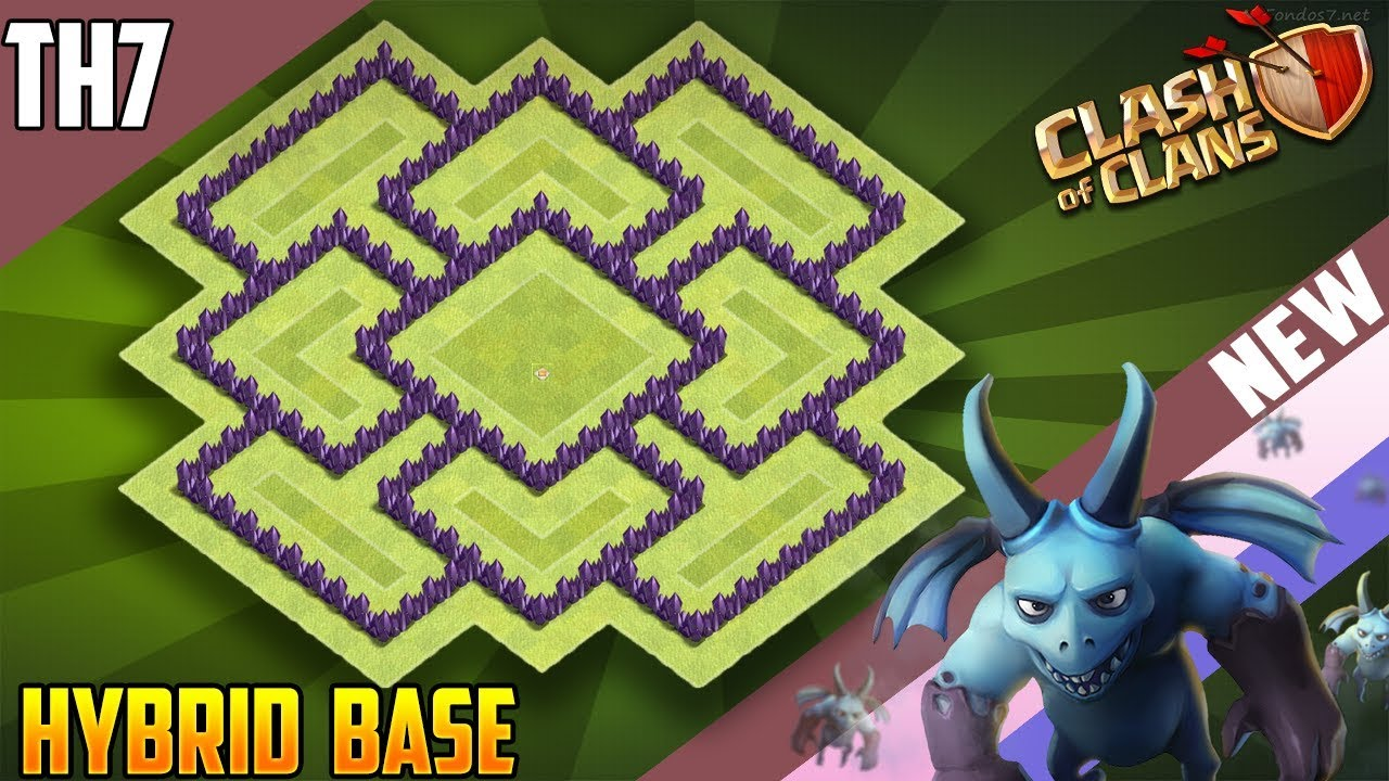 Best Th7 Hybrid Base Base Coc Th 7 8