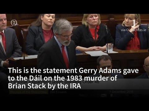 Gerry Adams Makes Statement on Murder of Brian Stack