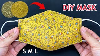 5 Minutes Fast Easy To Make 2 In 1 Face Mask Diy New Face Mask S M L Easy Pattern Sewing Tutorial