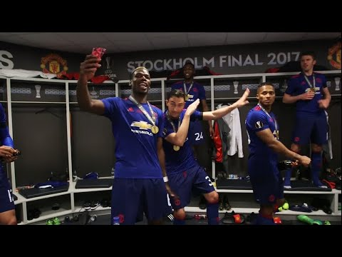 Inside Man Utd's dressing room after their Europa League final victory