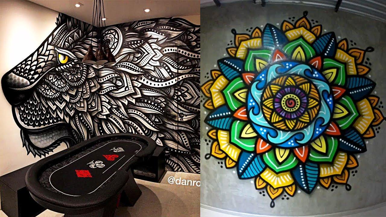 Incre ble decoraci n de habitaciones mandalas y m s nivel - Graffitis para habitaciones ...