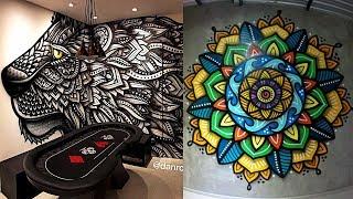 INCREÍBLE DECORACIÓN DE HABITACIONES MANDALAS Y MÁS🔥 NIVEL DIOS🔰Amazing Graffiti Designs Compilation
