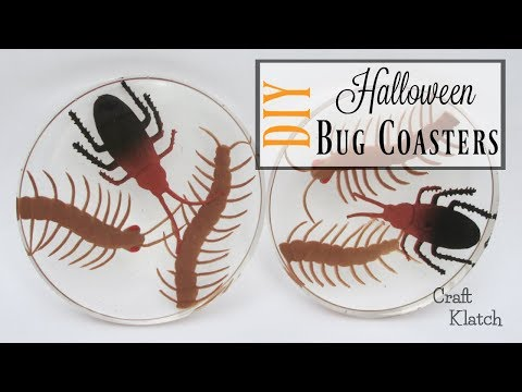 Halloween Bug Resin Coasters | Another Coaster Friday | Craft Klatch
