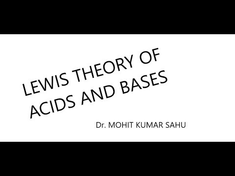 Lewis theory of acids and bases (ionic equilibrium part 4)