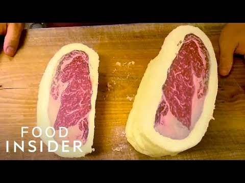 Steak Is Cooked In A Log Of Butter