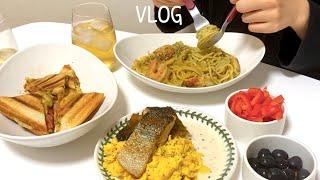 [vlog] 친구들 초대해서 집들이 요리ㅣ 새우바질크…