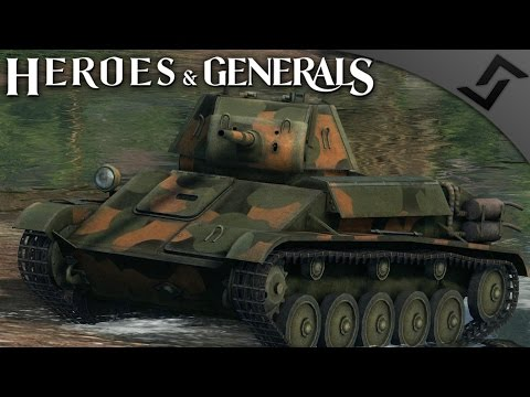 Impenetrable T-70 Tanks - Heroes and Generals - Russian Tanker Gameplay