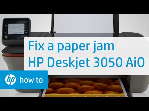 Fixing a Paper Jam - HP Deskjet 3050 All-in-One Printer | HP DeskJet | HP