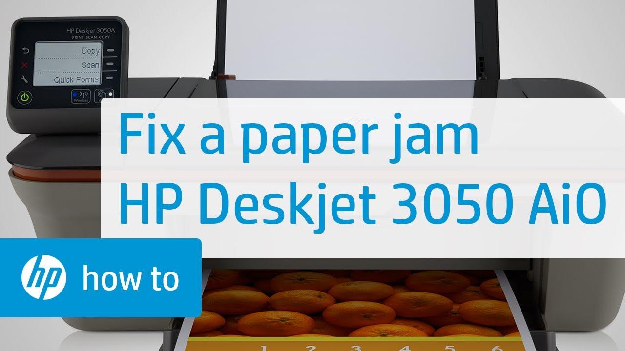 Fixing A Paper Jam Hp Deskjet 3050 All In One Printer