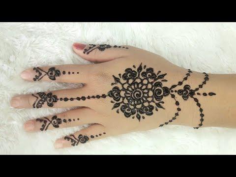 Henna Simpel Mudah Banget Untuk Pemula Simple Henna Henna Design Easy Mehndi Youtube