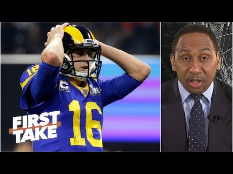 Jared Goff looked petrified in Rams鈥� Super Bowl LIII loss 鈥� Stephen A. | First Take