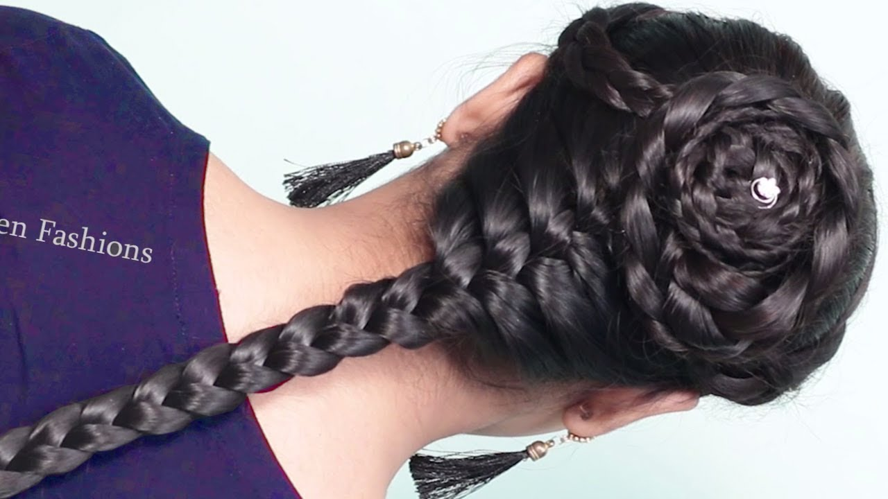 Simple Hairstyle For Girls 2019 Indian Wedding Hairstyles