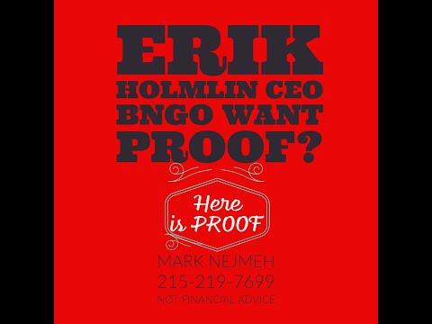 $BNGO #BNGO BionanoGenomics Erik Holmlin #ERIKHOLMLIN HERE IS THE PROOF