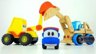 Leo Junior und seine Freunde als Spielzeug - Bagger, Traktor und Gabelstapler