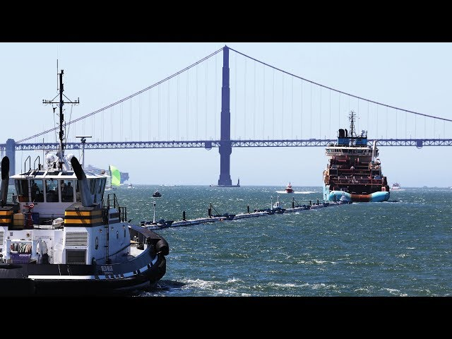 Ocean Cleanup tests out system to remove plastic from seas