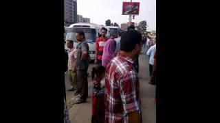 """فيديو: مظاهرات """"حليب الأطفال"""" تقطع كورنيش شبرا..والأمن يحوّل المرور"""