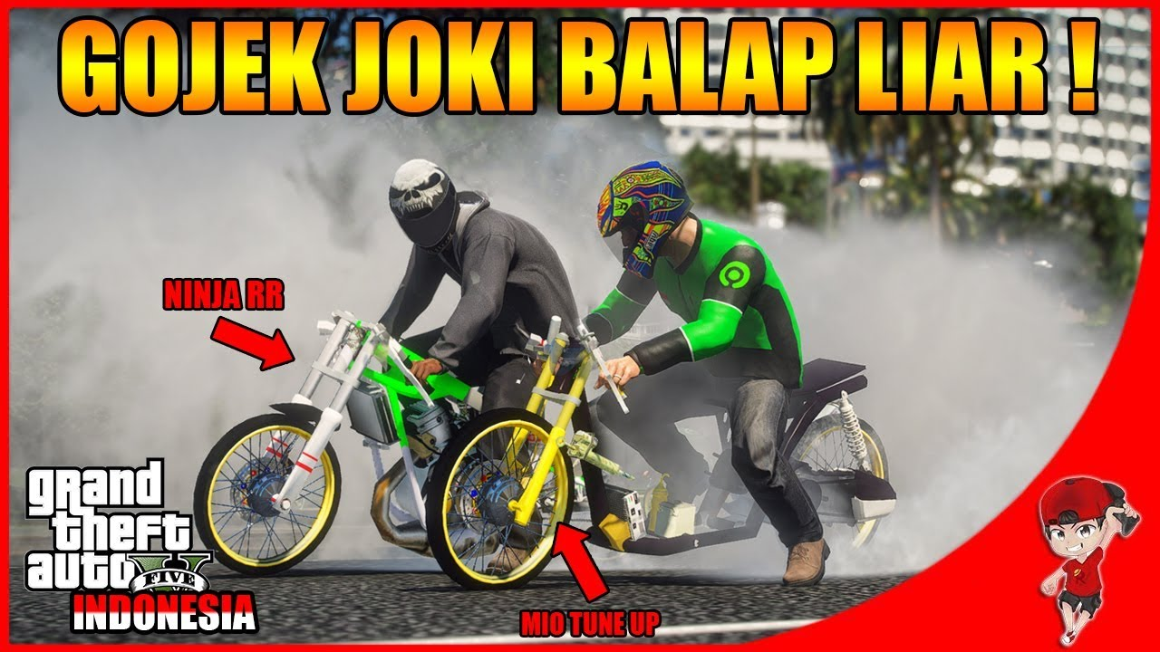 GTA V RASA INDONESIA (4) - SIANG NGOJEK MALAM JOKI BALAP LIAR wkwk