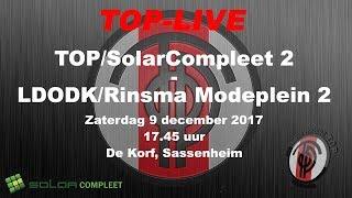 TOP/SolarCompleet 2 tegen LDODK/Rinsma Modeplein 2, zaterdag 9 december 2017