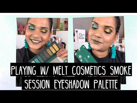 PLAYING W/ MELT COSMETICS SMOKE SESSION PALETTE | Karen Harris Makeup thumbnail