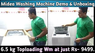 Midea washing Machine Demo / Review / Unboxing. Top Loading Fully Automatic wm . Best WM in India.