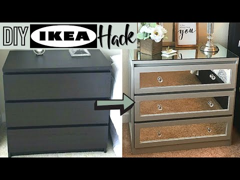 DIY DECOR: Turn an IKEA Dresser Into a Mirrored Nightstand!