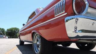 1964 falcon red new video for sale at www coyoteclassics com