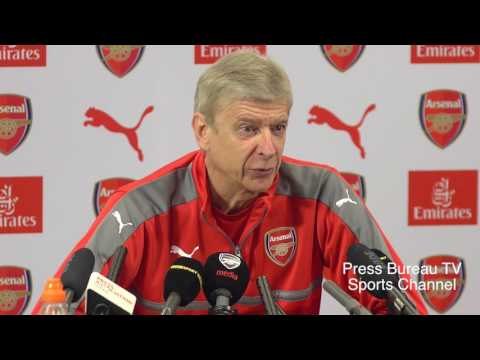 Arsene Wenger pre Arsenal vs Manchester United