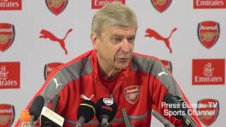 Arsene Wenger pre Arsenal vs Manchester United