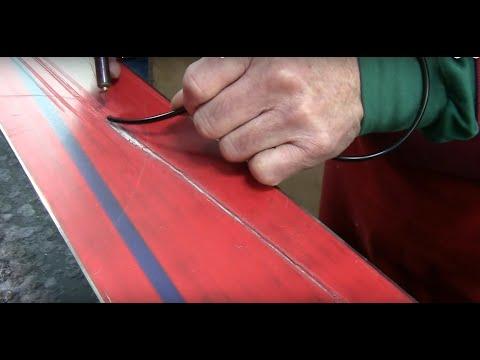 How To Welded Ski Base Repair Core Shots & On Edge