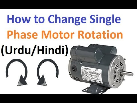 single phase capacitor start induction motor connection wiring diagram fender telecaster n3 how to change rotation urdu hindi youtube electrical tutorials