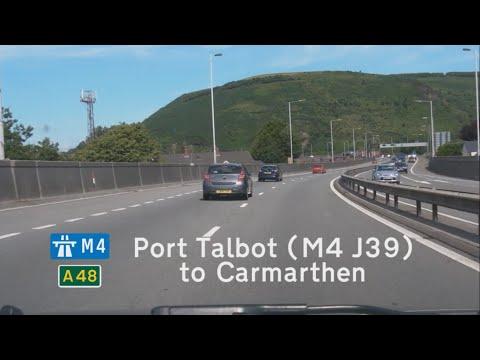 [GB] M4+A48: Port Talbot (M4 J39) to Carmarthen (A40)