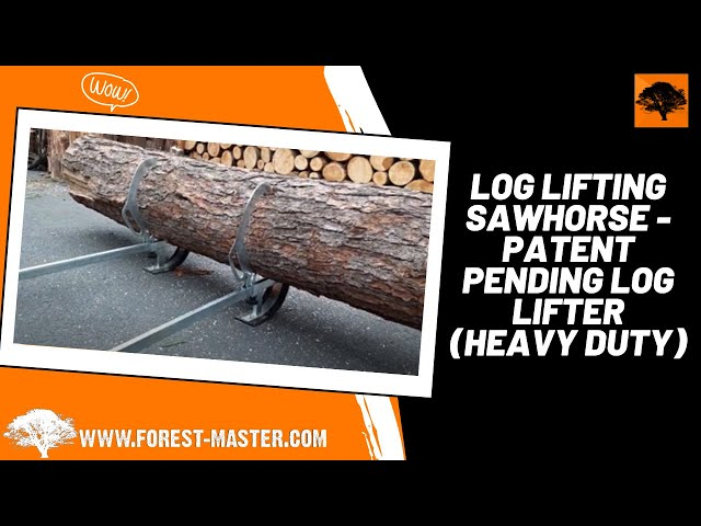 Heavy Duty Log Lifting Sawhorse | 2-in-1 Patent Pending Log Lifter (Forest Master FMLL)