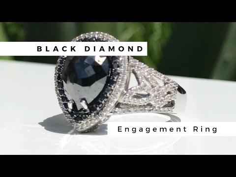 Giant Black Diamond Engagement Ring - Cobymadison Jewelers
