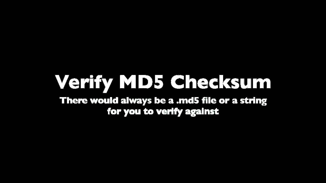 How to verify MD5 Checksum using Windows