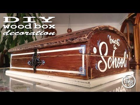 DIY wood box decoration / Decoracion de caja de madera / BdeS