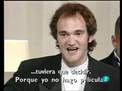 Tarantino en Cannes 1994 recibe la Palma de Oro por 'Pulp Fiction'