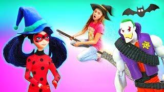 Куклы против Джокера! —Леди Баг иСказочный Патруль вырастили тыкву! —Хэллоуин ИГРУШКИ