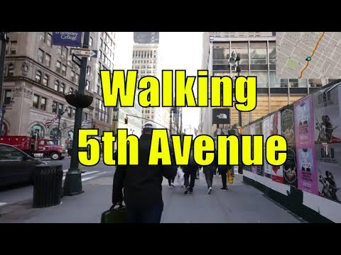 ⁴ᴷ Walking Tour of 5th Avenue, NYC from 59th Street to Washington Square Park (GPS Overlay)