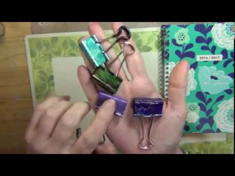 Customized Binder Clips! DIY