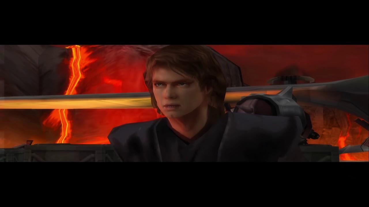 Revenge Of The Sith Ps2 Alternate Ending Anakin Kills Obi Wan Youtube